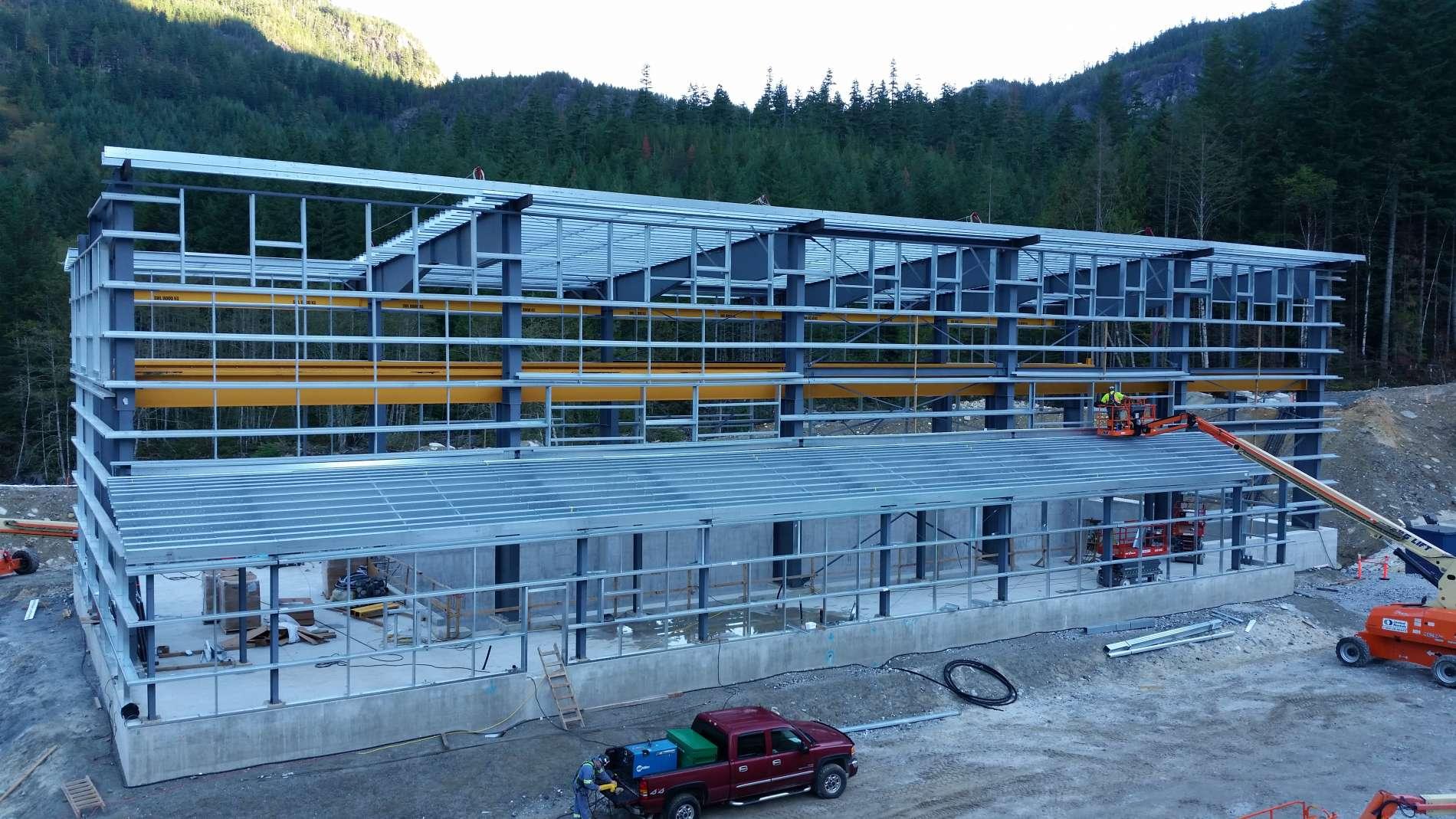 bc hydro big silver creek prefab steel buildings bc steel buildings bc prefabricated metal buildings canada